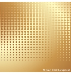 Gold halftone background vector image vector image