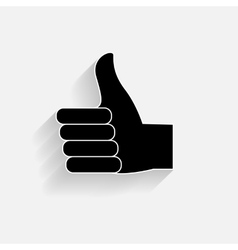 Hand signal on white EPS 10 vector image vector image