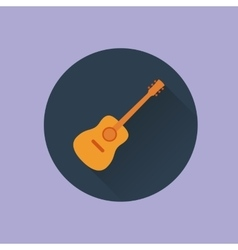 icon guitar flat vector image vector image