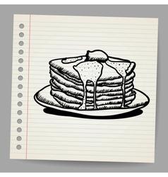Pancake doodle vector image vector image