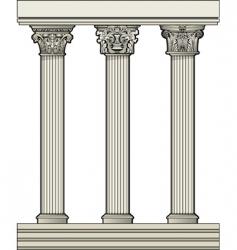 roman architectural columns vector image