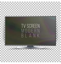 screen lcd plasma realistic flat smart tv vector image vector image