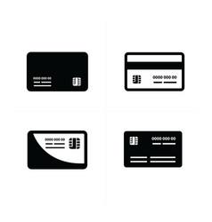 black credit cards set vector image
