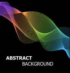 colourful abstract line wave background vector image