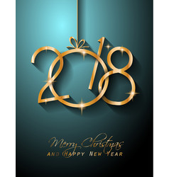 2018 happy new year background for your greetings vector