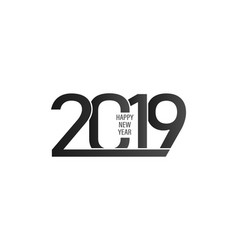 2019 happy new year background with black and vector image