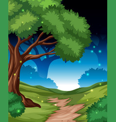 a night in firest background vector image