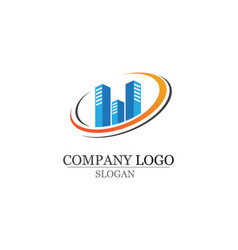 apartment logo design for business corporate sign vector image