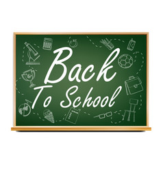 back to school banner design green vector image