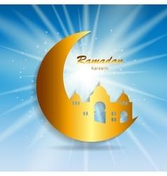Background for Muslim Community Festival Ramadan vector image