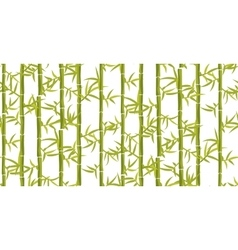 Bamboo seamless vertical pattern vector