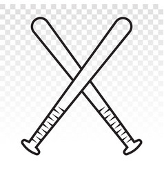 Baseball stick line art icon for sports apps vector