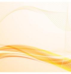 Bright solar wavy lines background vector