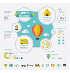 Camping Infographic Template vector