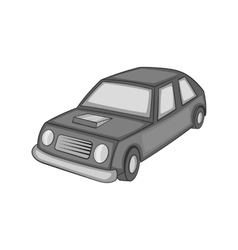 Car icon black monochrome style vector image