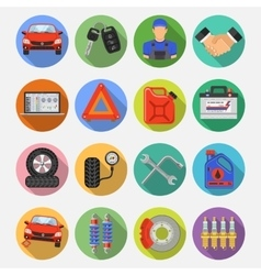 Car Service Set Icons vector