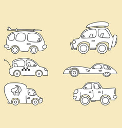 cars images stylized for kids vector image