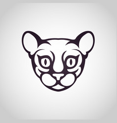 Cat logo icon vector