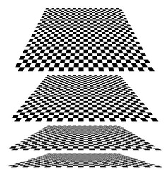 Checkered planes in different angles vector
