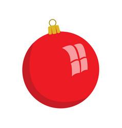 christmas ball flat style vector image