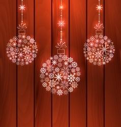 Christmas Balls Made of Snowflakes vector