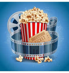 Cinema still life vector image