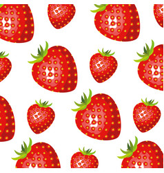 Color background of pattern set strawberry vector