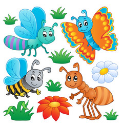 cute bugs collection 2 vector image