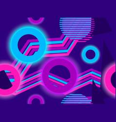 cyberpunk seamless pattern retro futurism the vector image