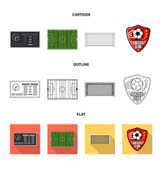 design of soccer and gear icon set of vector image