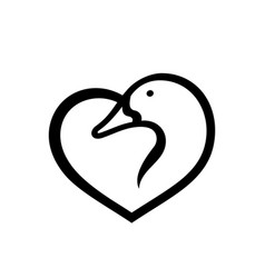 duck love sign vector image