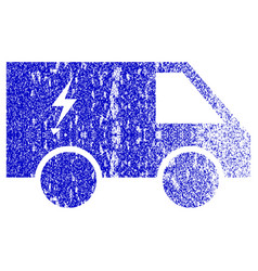 Electric power car textured icon vector