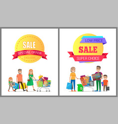 Exclusive sale special offer low cost super family vector