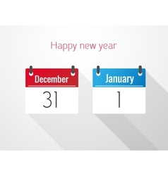 Fat Calendar From December to January vector