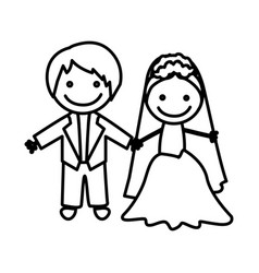 Figure married couple icon vector