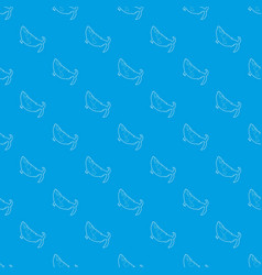 fish pattern seamless blue vector image