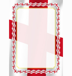 Frame and border of ribbon with england flag vector