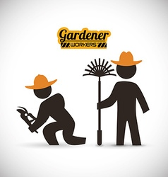 Gardener design vector