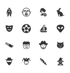genres of cinema icons set vector image
