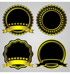 Gold-framed labels set vector