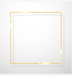 gold shiny glitter glowing vintage frame with vector image
