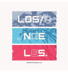 Graphic t-shirt design on topic los angeles vector