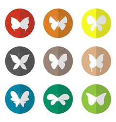 group of butterfly in the circle vector image