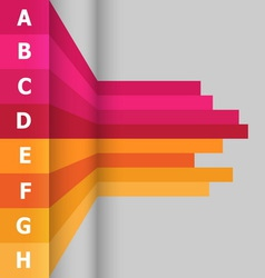 Horizontal banner with colorful lines vector