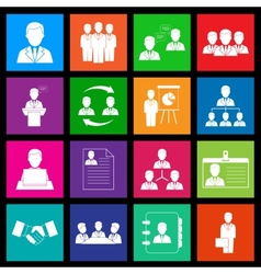 Human resources and management icon series in vector