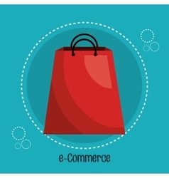icon bag buy shop isolated vector image
