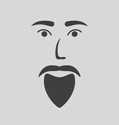 Icon of a bearded man vector