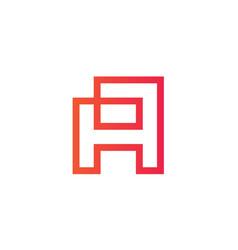 initial letter a logo design vector image