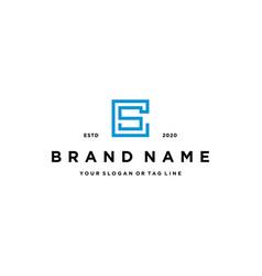 Letter cs logo design vector