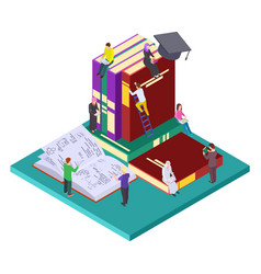 Library education isometric concept vector